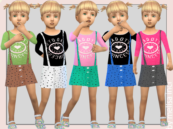 Sims 4 Salopette Dress by melisa inci at TSR