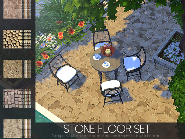 Stone Floor Set by Rirann at TSR image 445 Sims 4 Updates