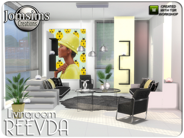 Reevda living room by jomsims at TSR image 449 Sims 4 Updates