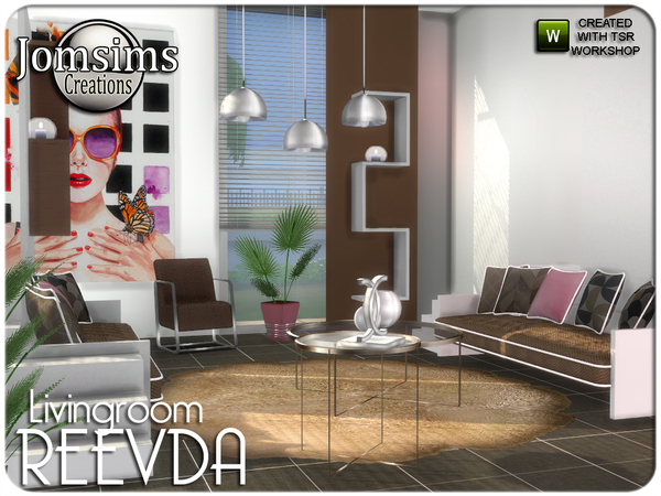 Reevda living room by jomsims at TSR image 458 Sims 4 Updates