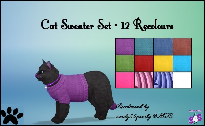 EP04 Cat Sweater 12 Recolours by wendy35pearly at Mod The Sims image 4615 670x413 Sims 4 Updates