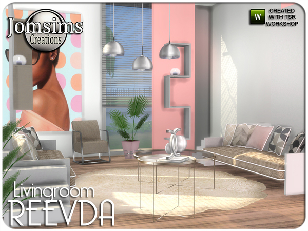 Reevda living room by jomsims at TSR image 469 Sims 4 Updates