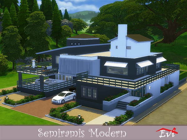 Semiramis Modern house by evi at TSR image 4710 Sims 4 Updates