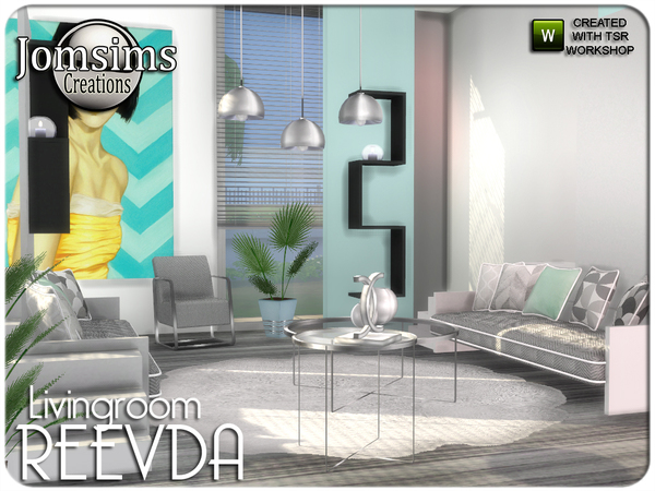 Reevda living room by jomsims at TSR image 479 Sims 4 Updates