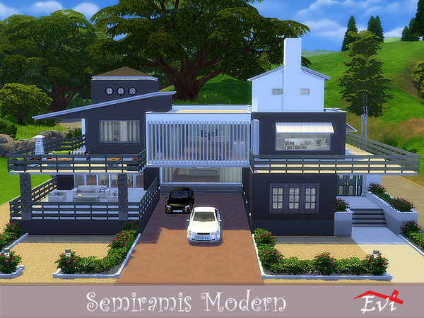 Semiramis Modern house by evi at TSR image 4810 Sims 4 Updates