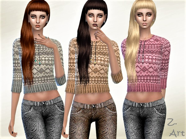 Winter CollectZ 01 sweater by Zuckerschnute20 at TSR image 491 Sims 4 Updates