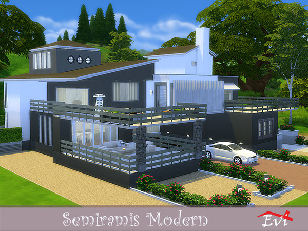 Semiramis Modern house by evi at TSR image 4910 Sims 4 Updates