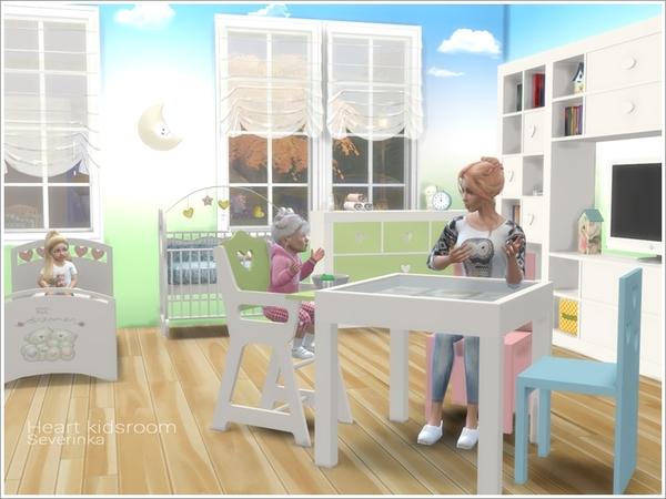 Heart kidsroom by Severinka at TSR image 4913 Sims 4 Updates