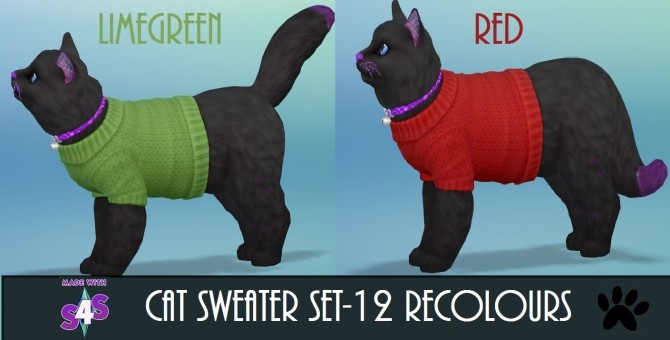 EP04 Cat Sweater 12 Recolours by wendy35pearly at Mod The Sims image 4916 670x340 Sims 4 Updates