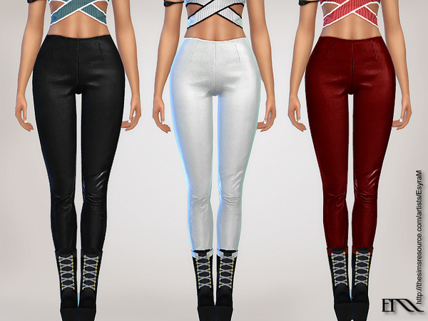 Cropped Leather Leggings by EsyraM at TSR image 501 Sims 4 Updates