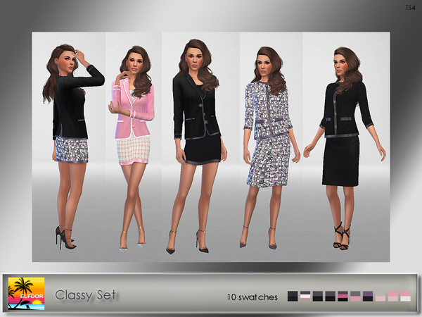 Classy Set by Elfdor at TSR image 5010 Sims 4 Updates