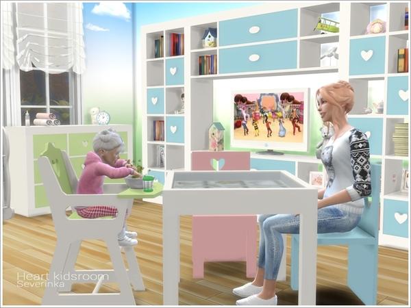 Heart kidsroom by Severinka at TSR image 5012 Sims 4 Updates