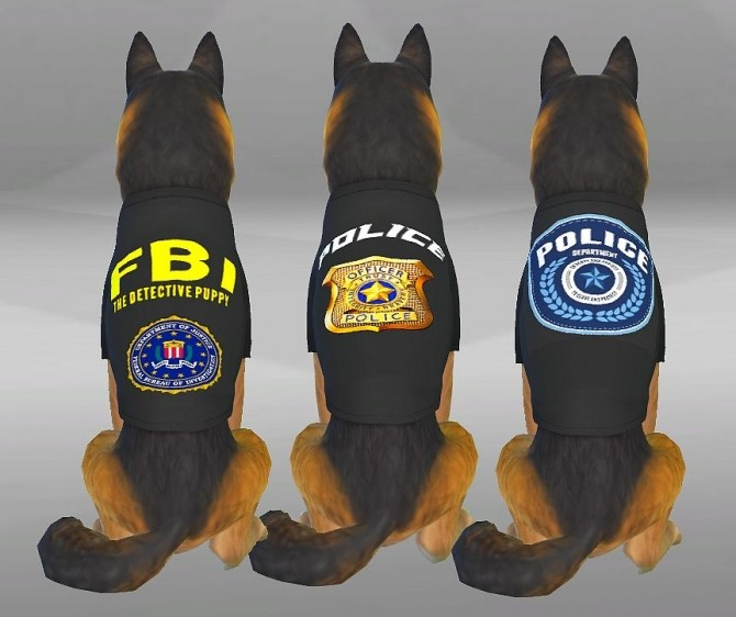 POLICE CLOTHES FOR DOGS by SimVicio at SimsWorkshop image 507 670x562 Sims 4 Updates