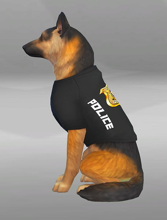 POLICE CLOTHES FOR DOGS by SimVicio at SimsWorkshop image 5112 Sims 4 Updates