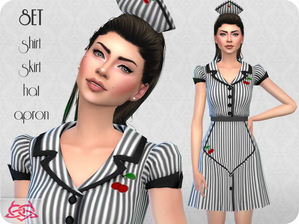 Waitress SET RECOLOR 2 by Colores Urbanos at TSR image 5114 Sims 4 Updates