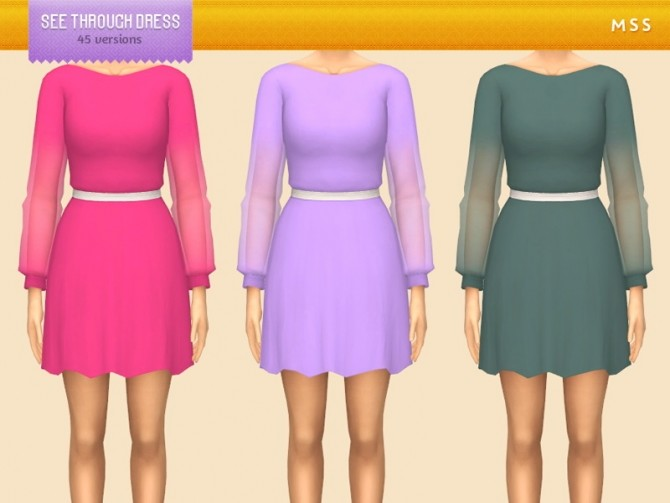 See Through Dress by midnightskysims at SimsWorkshop image 5116 670x503 Sims 4 Updates
