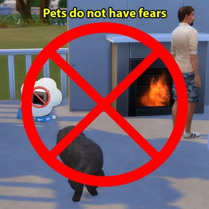Sims 4 Pets do not have fears by sasha973 at Mod The Sims