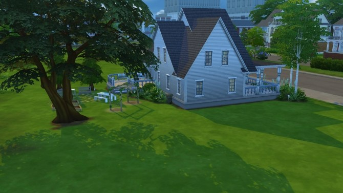 Sims 4 Blue April small family home by PolarBearSims at Mod The Sims