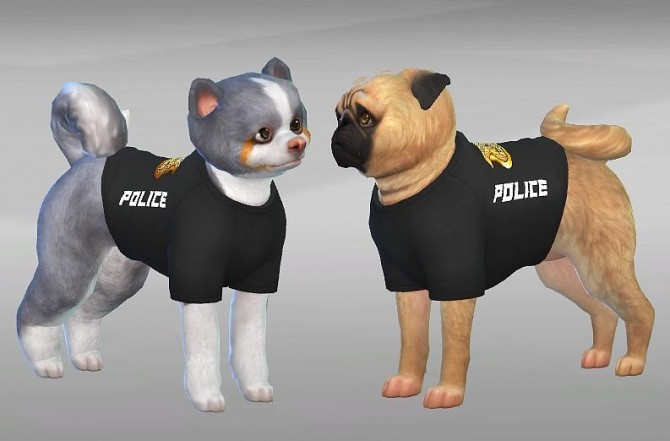 POLICE CLOTHES FOR DOGS by SimVicio at SimsWorkshop image 529 670x441 Sims 4 Updates
