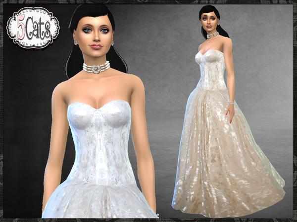El Dorado Bridal Gown by Five5Cats at TSR image 530 Sims 4 Updates