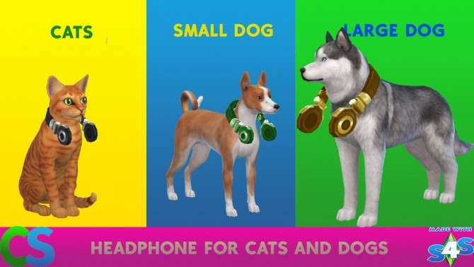 Sims 4 Headphone for cats and dogs by cepzid at SimsWorkshop