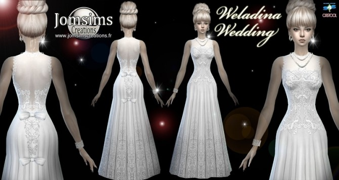 Sims 4 Weladina wedding dress at Jomsims Creations