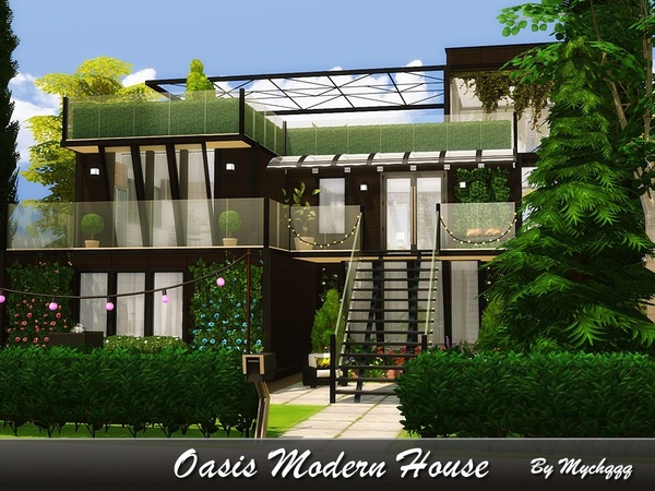 Oasis Modern House by MychQQQ at TSR image 539 Sims 4 Updates