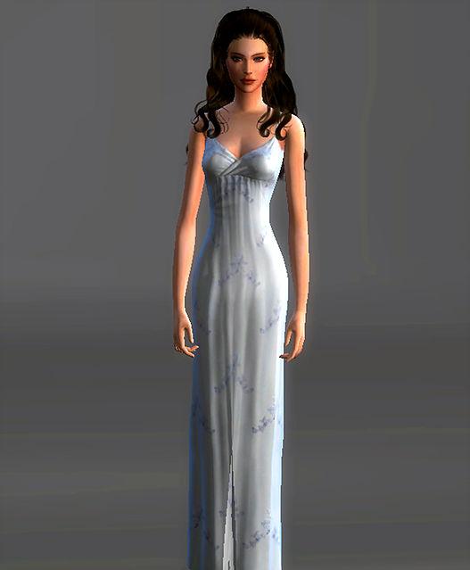 Sims 4 White Night Gown Padme Amidala at Magnolian Farewell