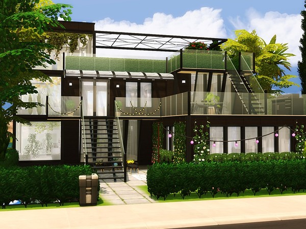 Oasis Modern House by MychQQQ at TSR image 5471 Sims 4 Updates