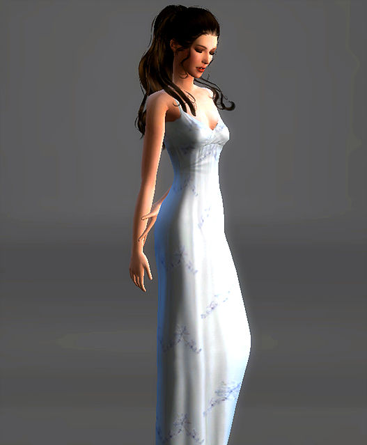 White Night Gown Padme Amidala at Magnolian Farewell image 5514 Sims 4 Updates