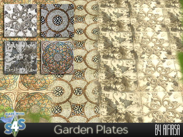 Garden Plates tiles at Aifirsa image 558 Sims 4 Updates