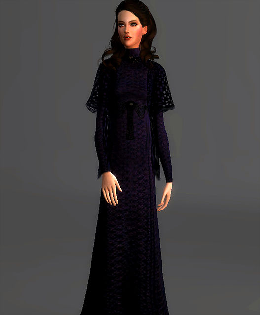 Linen Dress Padme Amidala At Magnolian Farewell 187 Sims 4