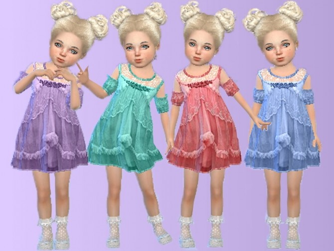 Sims 4 My pretty baby dress at Trudie55