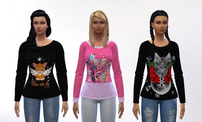 5 tops at Louisa Creations4Sims image 566 670x406 Sims 4 Updates
