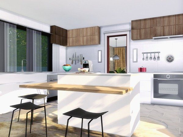 Oasis Modern House by MychQQQ at TSR image 569 Sims 4 Updates