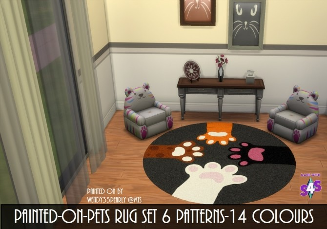 Sims 4 PETS Rug SET by wendy35pearly at Mod The Sims