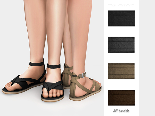 Sims 4 JW Sandals by mauvemorn at TSR