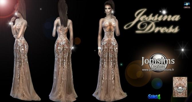 Sims 4 Jessina dress at Jomsims Creations