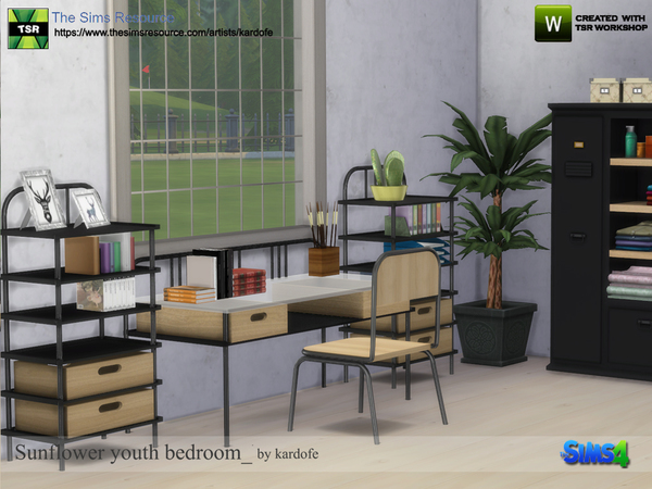 Sunflower youth bedroom by kardofe at TSR image 591 Sims 4 Updates
