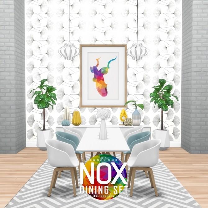 Nox Dining Set Redux at Simsational Designs image 5921 670x670 Sims 4 Updates