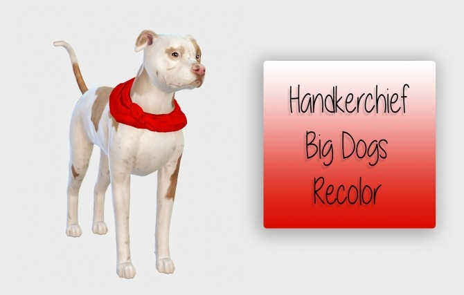 Handkerchief Big Dogs Recolor at Simiracle image 607 670x427 Sims 4 Updates