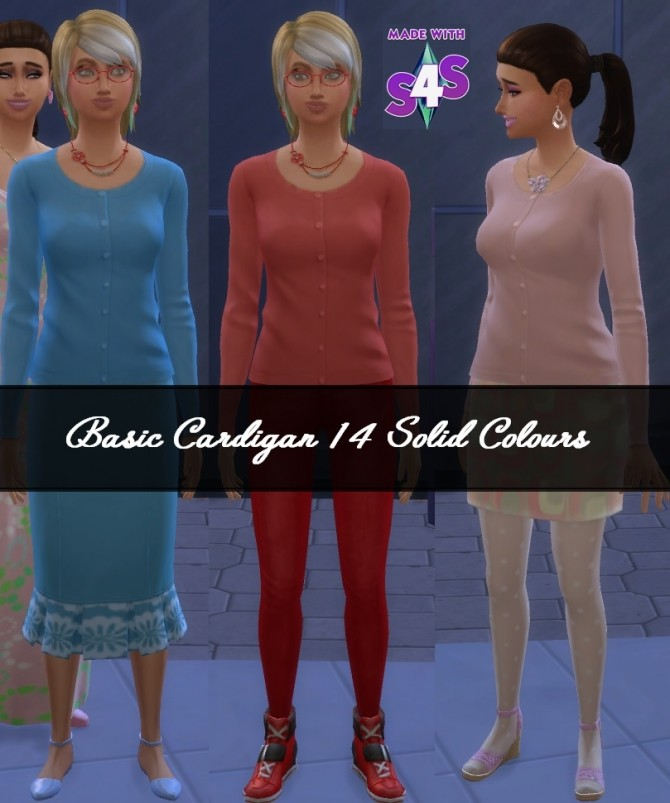 Cardigan 14 Solid Colours BG by wendy35pearly at Mod The Sims image 61 670x803 Sims 4 Updates