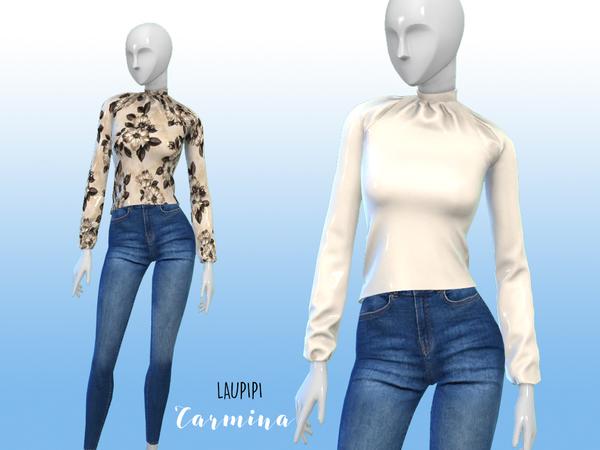 Sims 4 Carmina blouse by laupipi at TSR