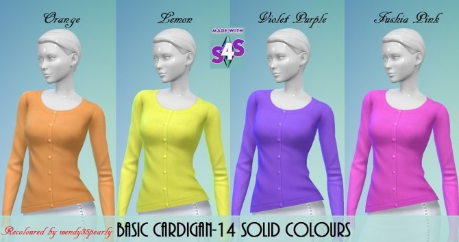 Cardigan 14 Solid Colours BG by wendy35pearly at Mod The Sims image 62 670x353 Sims 4 Updates