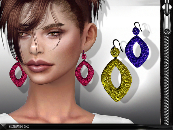 Sims 4 MFS Simone Earrings by MissFortune at TSR