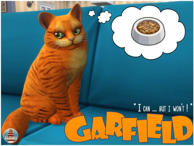 Sims 4 GARFIELD by Waterwoman at Akisima