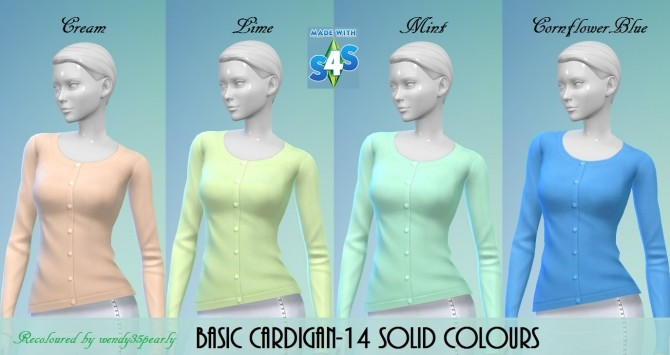 Cardigan 14 Solid Colours BG by wendy35pearly at Mod The Sims image 63 670x355 Sims 4 Updates
