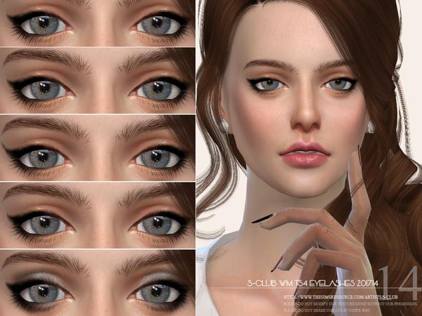 Sims 4 Eyelashes 201714 by S Club WM at TSR