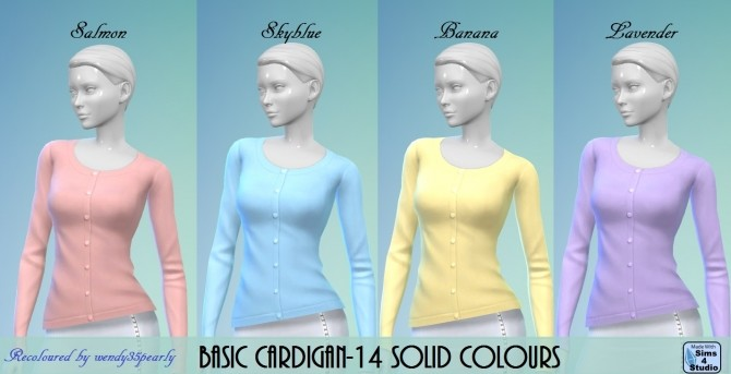Cardigan 14 Solid Colours BG by wendy35pearly at Mod The Sims image 64 670x343 Sims 4 Updates