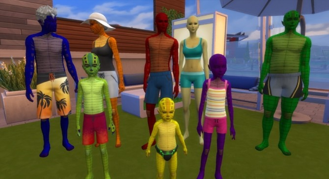 Sims 4 Lizard Alien Skin Override by Tarruvi at Mod The Sims